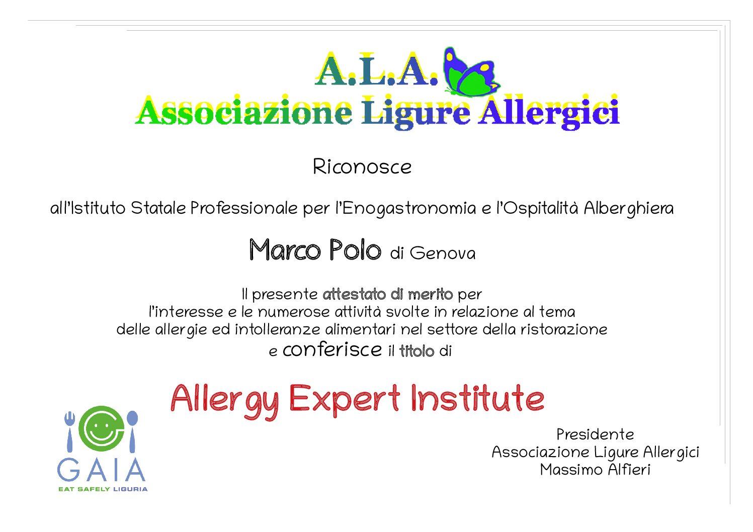 Premiazione Istituto Marco Polo