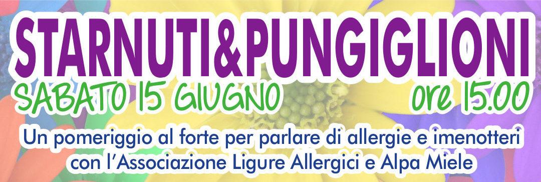 """""""STARNUTI E PUNGIGLIONI"""" allergia agli imenotteri"""
