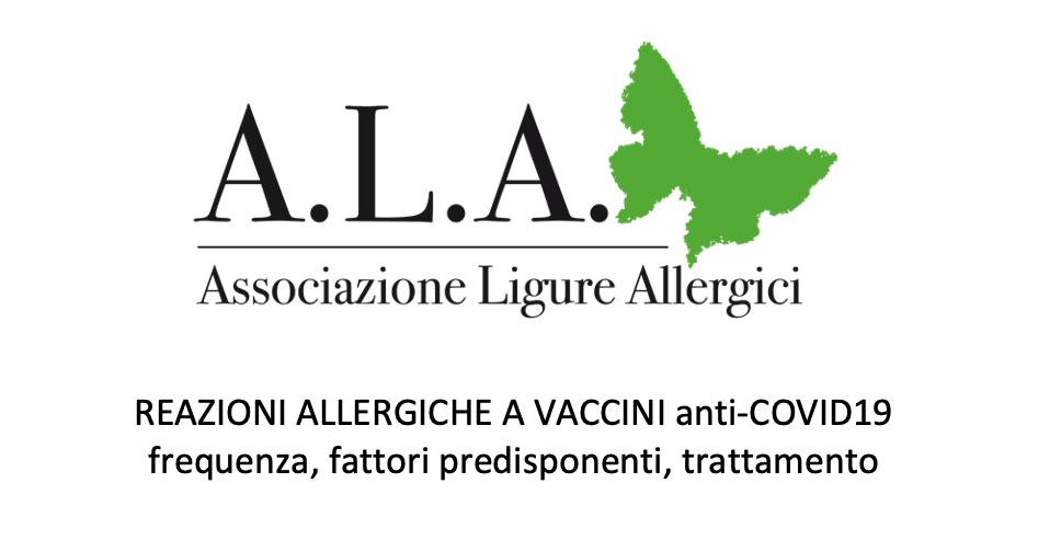 Comitato Scientifico ALA – vaccino Covid e reazioni allergiche